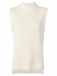 Rejina Pyo ribbed knit sleeveless jumper - NEUTRALS