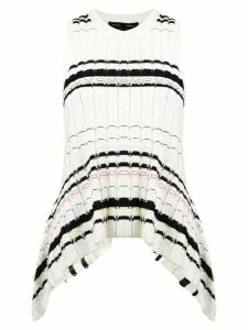 Proenza Schouler Striped Rib Knit Top - White