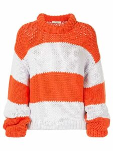 Tibi oversized striped sweater - ORANGE