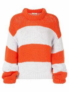Tibi oversized striped sweater - ORANGE