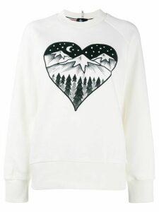 Moncler Grenoble Après Ski embroidered sweater - White