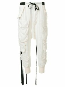 UNRAVEL PROJECT cargo track pants - NEUTRALS