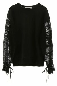 See by Chloé Sweatshirt With Lace Sleeves