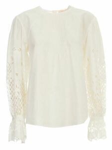 See by Chloé Sweater L/s W/lace On Sleeve