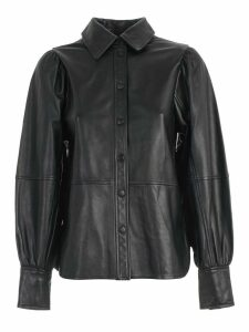 Ganni Shirt L/s Leather