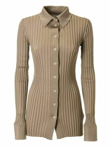 Bottega Veneta Ribbed Button Top