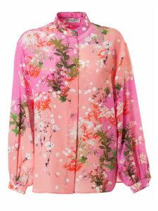 Givenchy Floral Print Bow Shirt