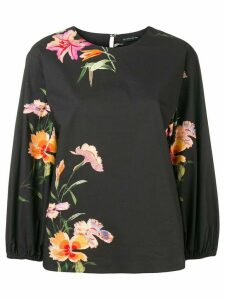 Etro floral print blouse - Black
