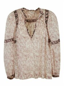 Isabel Marant Open Placket Printed Blouse