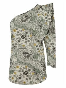 Isabel Marant One-sleeve Paisley Print Top