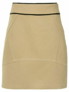 Olympiah Pumacahua a-line skirt - Brown