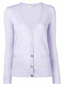 Tory Burch V-neck button cardigan - PURPLE