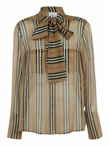 Burberry Striped Print Blouse