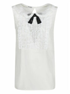 Miu Miu Lace-bib Top