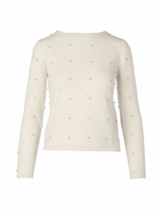 Max Mara Dolmen Pearls And Stone Sweater