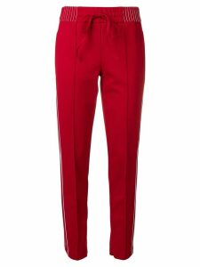 Cambio side stripes slim fit trousers - Red