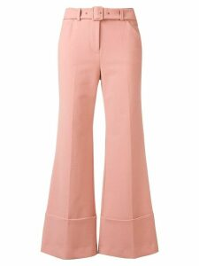 Sara Battaglia tailored flared trousers - PINK