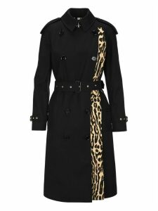 Burberry London Llopard-print Lined Trench Coat