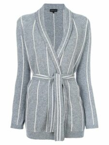 Cashmere In Love cashmere Charlotte striped cardigan - Grey