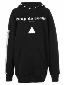 Coup De Coeur logo hooded sweatshirt - Black