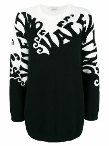 Valentino cashmere waves jumper - Black