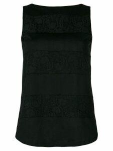 Les Copains lace-panelled blouse - Black