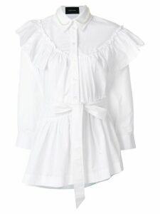 Simone Rocha ruffled belted shirt - WHTPEA