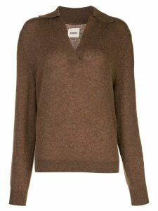 Khaite fine knit V-neck sweater - Brown