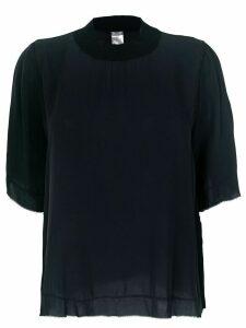 Kristensen Du Nord cashmere trim T-shirt - Black