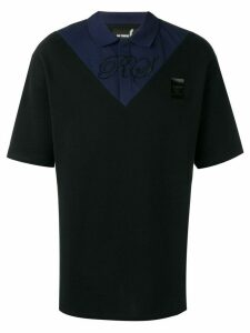 Raf Simons X Fred Perry two tone polo shirt - Black