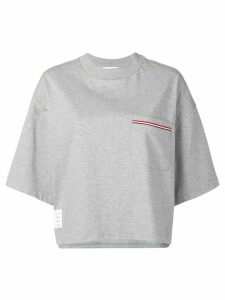 Thom Browne Jersey Oversized Pocket Tee - Grey