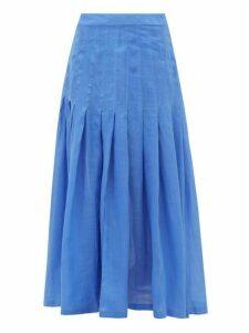 Three Graces London - Elisha Pleated Skirt - Womens - Blue