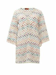 Missoni Mare - Metallic Zigzag-knit Kaftan - Womens - White Multi