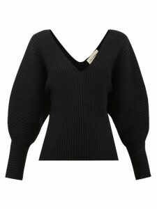 Mara Hoffman - Olla V-neck Organic Cotton-blend Sweater - Womens - Black