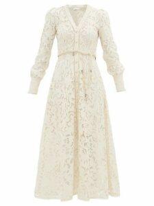 Zimmermann - Freja Broderie-anglaise Cotton Shirtdress - Womens - Ivory