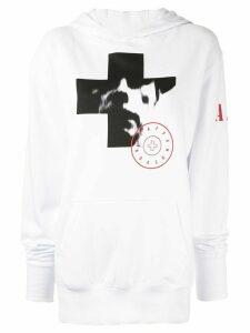 A.F.Vandevorst photographic print hoodie - White