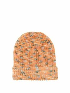 M Missoni - Variegated Brioche-knitted Wool Hat - Womens - Pink Multi