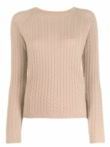 Max Mara cable knit sweater - NEUTRALS