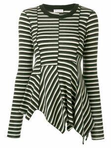Sonia Rykiel asymmetric striped blouse - Black