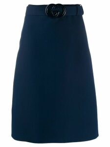 Gucci GG belt a-line skirt - Blue