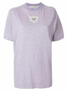 Tu es mon TRÉSOR embroidered short-sleeve T-Shirt - PURPLE