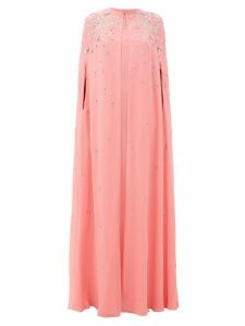 Givenchy - Embellished Silk-georgette Maxi-length Cape - Womens - Pink
