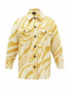 Isabel Marant - Harvey Tiger-print Brushed-wool Overshirt - Womens - Yellow Multi
