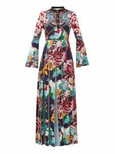 Mary Katrantzou - Desmine Pleated Baroque-print Crepe Dress - Womens - Multi