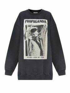 Acne Studios - Fina Propaganda Magazine-print Cotton Sweatshirt - Womens - Black