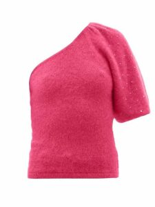 Joostricot - Beaded One-sleeve Mohair-blend Sweater - Womens - Pink