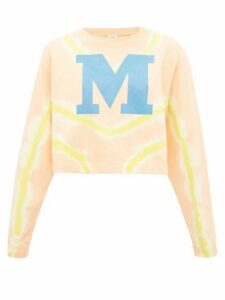 M Missoni - M-logo Tie-dyed Cotton Sweater - Womens - Orange Multi