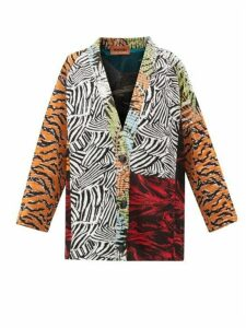 Missoni - Panelled Jacquard-knit Cardigan - Womens - Orange Multi