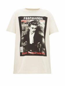 Acne Studios - Erice Propaganda Magazine-print Cotton T-shirt - Womens - Beige