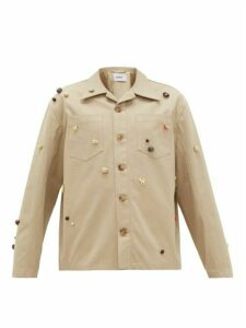 Bode - Canvas Critter Work Shirt - Womens - Beige